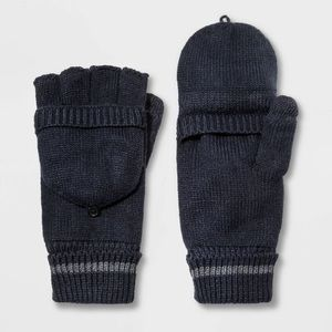 NWY Goodfellow &Co navy flip top Lined Mittens